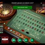 Un semplice gioco di roulette con un avvertimento fastidioso dal sito