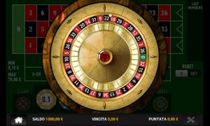 Questa ruota della roulette appare dopo hai fatto le tue puntate e avviato una spin