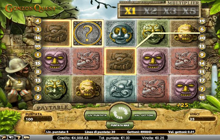 Gonzo's Quest, una slot machine popolare che potrebbe essere trovata quasi ovunque