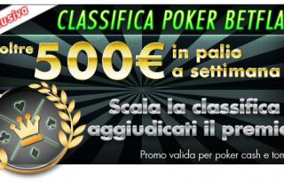 Gioca a poker e potresti vincere un premio dal montepremi totale settimanale di 500€!