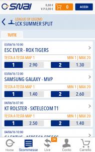 Scommesse sugli eSports a SNAI mobile