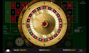 La roulette nella versione mobile. Semplice e chiara