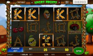 La slot Angry Fruits in modalità demo