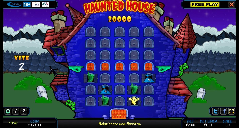Il gioco bonus di Haunted House
