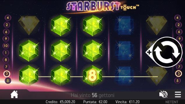 Starburst nella versione mobile del Merkur Win