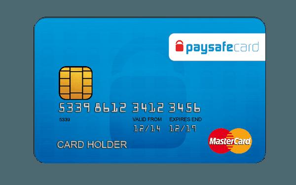 Un campione di carta prepagata paysafecard