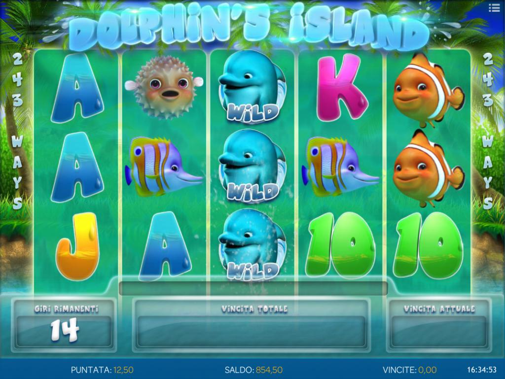 NetBet Dolhpin's Island giri gratis