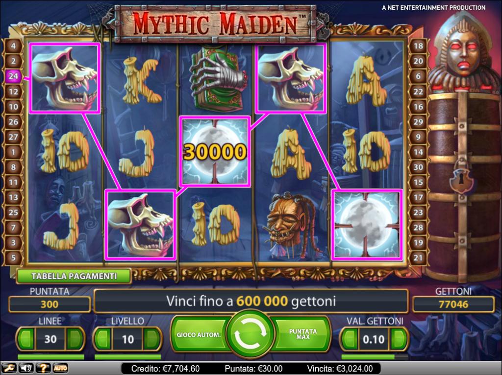 Giri regolari a Mythic Maiden