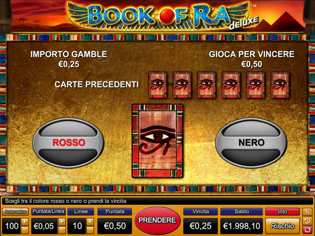 Book of Ra Deluxe rischio della vincita
