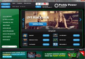 Paddy Power ha cambiato l'interfaccia del software casinò un po' per renderlo più attraente