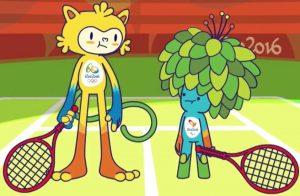 Vinicius (sinistra) e Tom (destra), le mascotte di Rio 2016